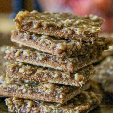 toffee bars stacked
