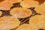 pizzelle on a rack