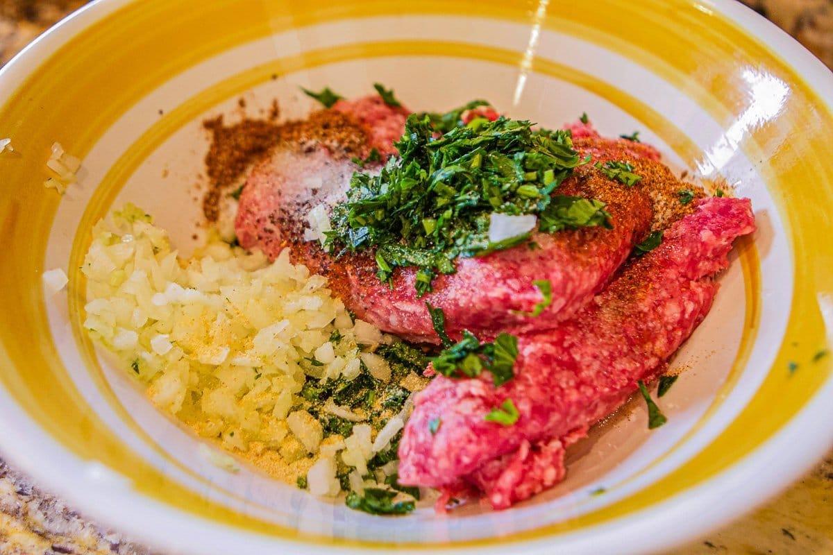 beef kofta recipe mix in a bowl