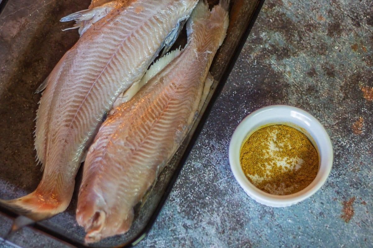 cat fish and seasoning