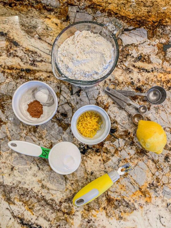 lemon blueberry dry ingredients